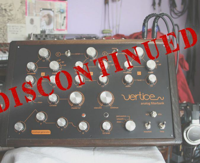 Vertice Analog Filterbank Prima Serie is ended!
