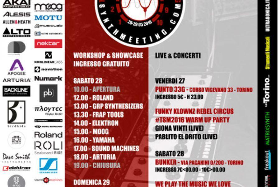 Torino Synth Meeting 28-29 May, 2016
